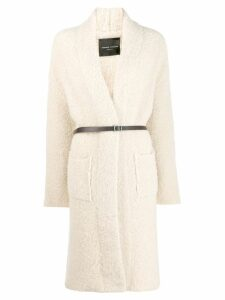 Roberto Collina open front design cardi-coat - Neutrals