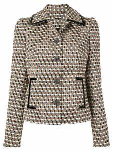 Elie Tahari cube print blazer jacket - Multicolour