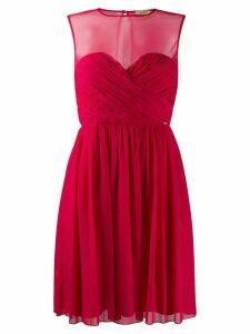 Liu Jo sheer panel dress - Red