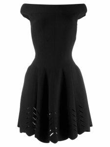 Alexander McQueen off the shoulder flared dress - Black