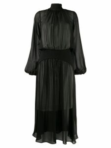 Nº21 sheer long dress - Black