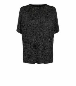 Black Spot Oversized T-Shirt New Look