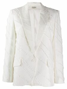 Zadig & Voltaire decorative trim blazer - White