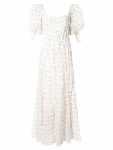 Rachel Gilbert Loni puff sleeve dress - White