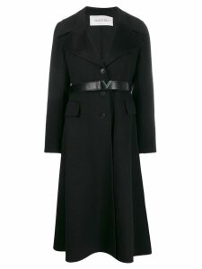 Valentino cashmere single-breasted coat - Black