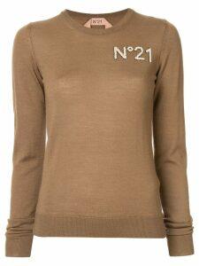 Nº21 chest logo jumper - Brown
