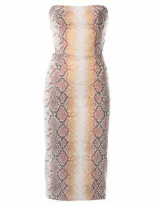 Manning Cartell snakeskin-effect dress - Multicolour