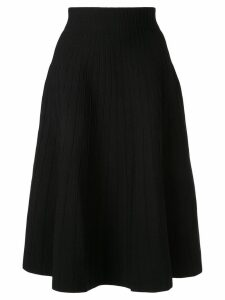 Casasola high waisted ribbed skirt - Black