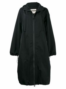 Bottega Veneta oversized hooded coat - Black