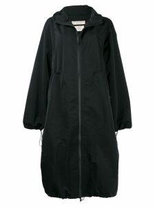 Bottega Veneta oversized hooded coat - Black