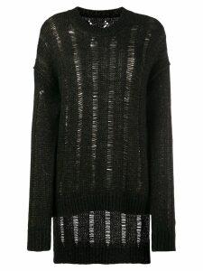 Uma Wang oversized distressed jumper - Brown