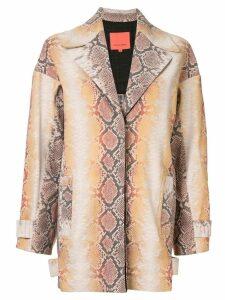 Manning Cartell snakeskin-effect jacket - Multicolour