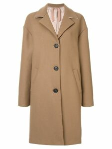 Nº21 wool oversized single breast coat - Brown