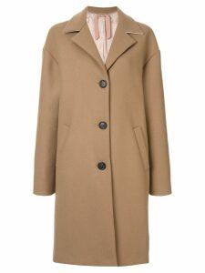 Nº21 wool oversized single breast coat - Brown