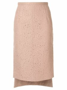 Nº21 lace midi pencil skirt - Neutrals