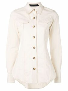 Proenza Schouler L/S Fitted Shirt-Light Weight Denim - White