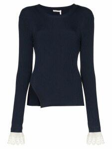 Chloé lace-embellished bodysuit jumper - Blue
