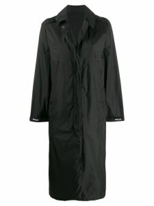 Moncler logo oversized coat - Black