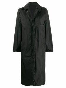 Moncler logo oversized coat - Black