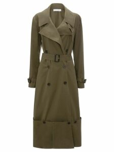 JW Anderson fold-up hem trench coat - Green