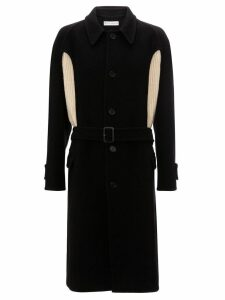 JW Anderson knit insert wool coat - Black