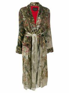 Etro floral print coat - Green