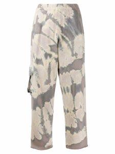Raquel Allegra pocket fleece sweatpants - Blue