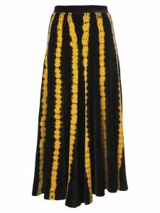 Proenza Schouler Tie Dye Velvet Skirt - Black