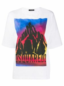 Dsquared2 graphic print crewneck T-shirt - White