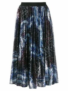 Pinko sequinned pleated skirt - Blue