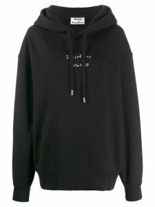 Acne Studios cut out logo hooded sweater - Black