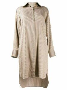 Fendi striped shirt dress - Neutrals