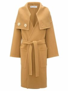 JW Anderson wrap coat with oversized collar - Brown