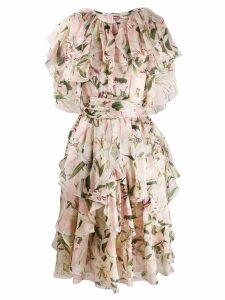 Dolce & Gabbana short ruffled dress - Pink