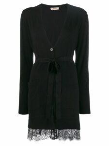 Twin-Set long lace cardigan - Black