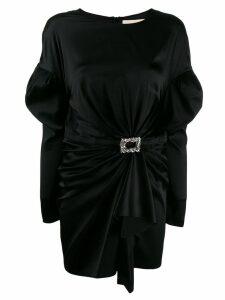 Alexandre Vauthier long-sleeve ruched mini dress - Black