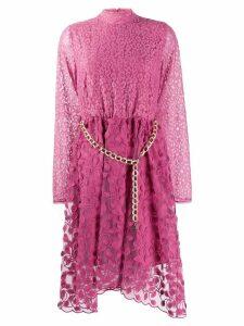 Just Cavalli belted midi dress - Pink
