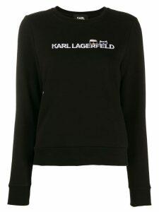 Karl Lagerfeld Ikonik logo sweatshirt - Black