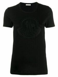 Moncler large chest logo T-shirt - Black