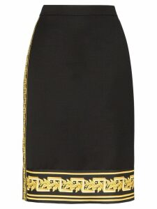 Versace Baroque panel fitted skirt - Black