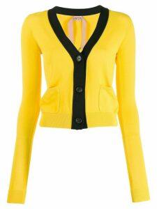 Nº21 knitted logo cardigan - Yellow