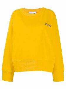 Moschino logo embroidered sweatshirt - Yellow