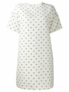 Valentino logo print shift dress - White