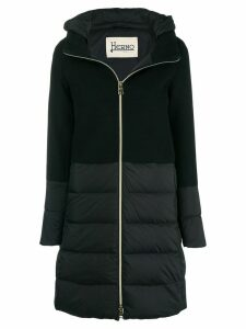Herno hooded zipped coat - Black