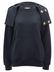 JW Anderson oversized hood sweatshirt - Blue