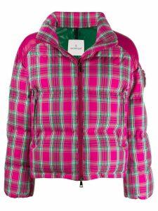 Moncler plaid padded jacket - Pink