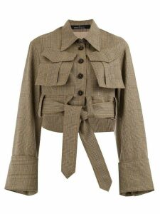 Rokh fitted houndstooth jacket - Brown