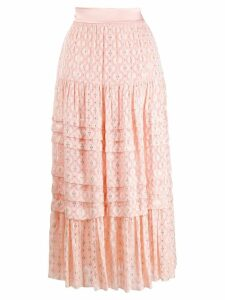 Temperley London Suki tiered midi skirt - Pink