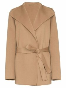 Joseph Lima short belted coat - Brown
