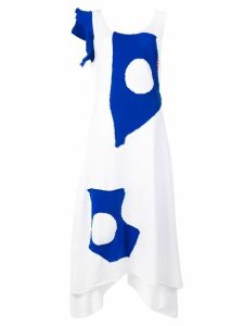 Charles Jeffrey Loverboy Jersey Drape dress - White